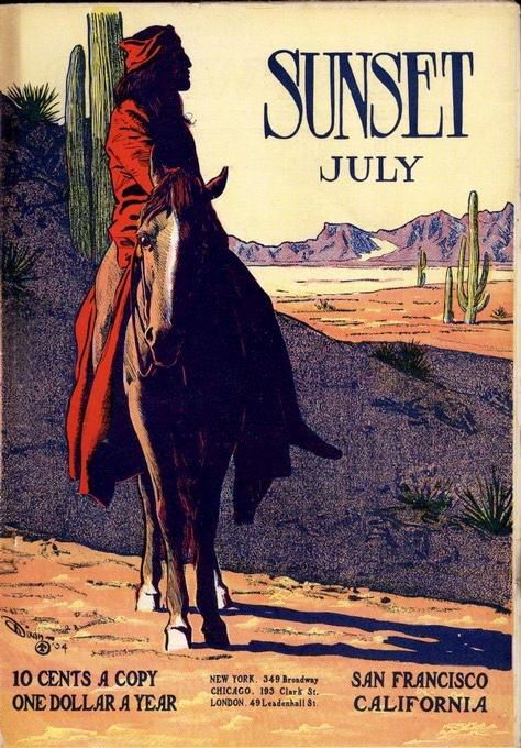 July 1904 cover of Sunset magazine