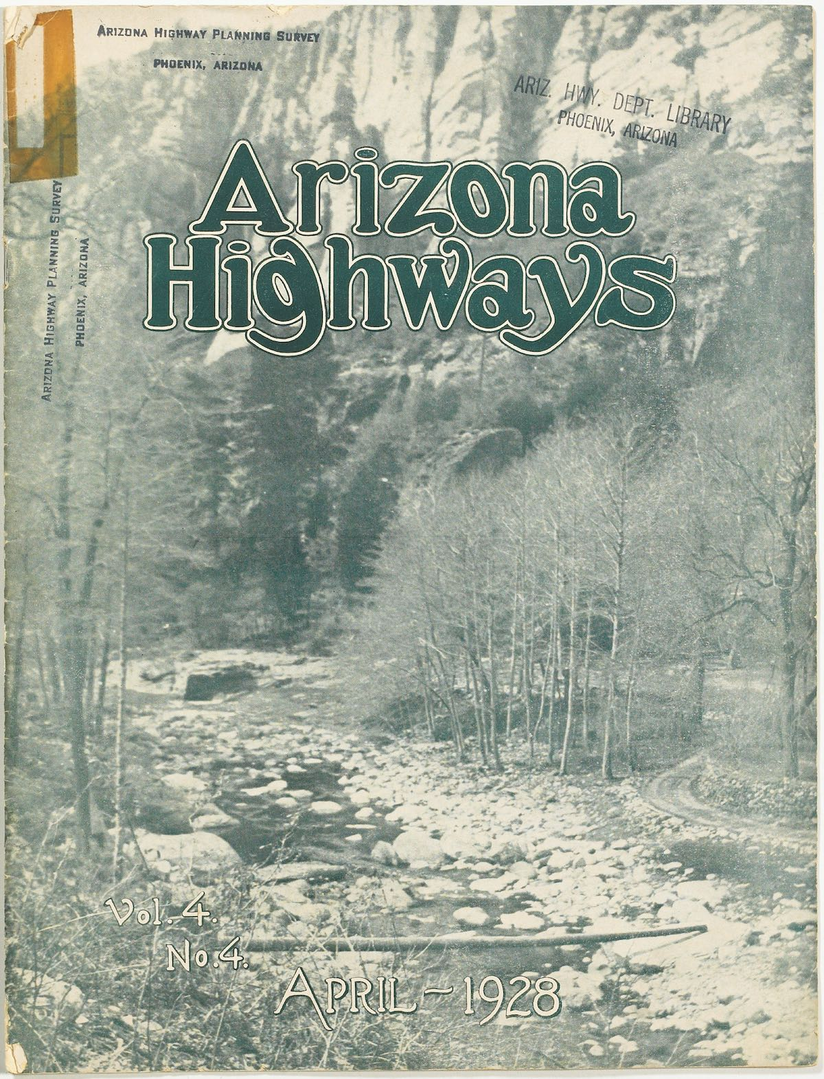 Arizona Highways April 1928 cover