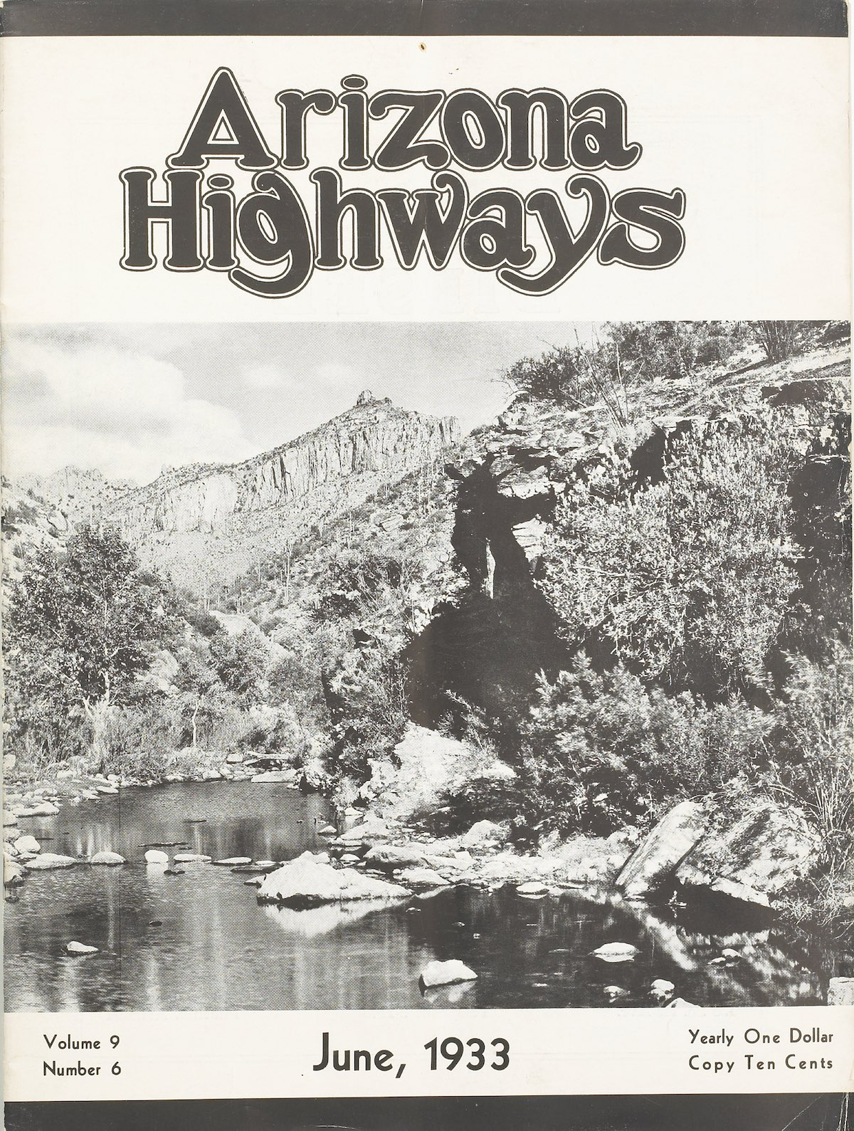 June 1933 cover of Arizona Highways