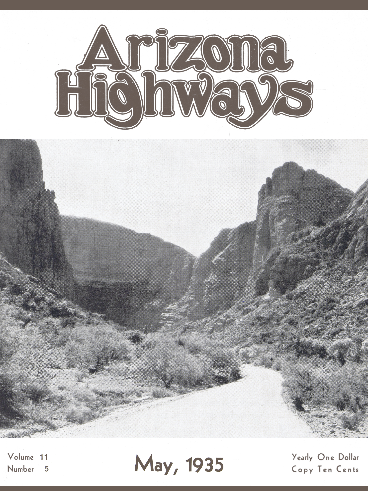 May 1935 cover of Arizona Highways