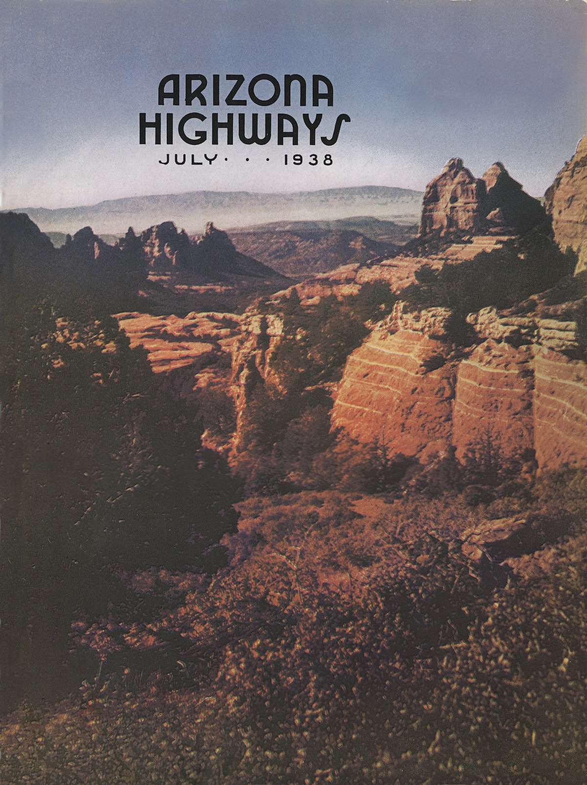 July 1938 cover of Arizona Highways