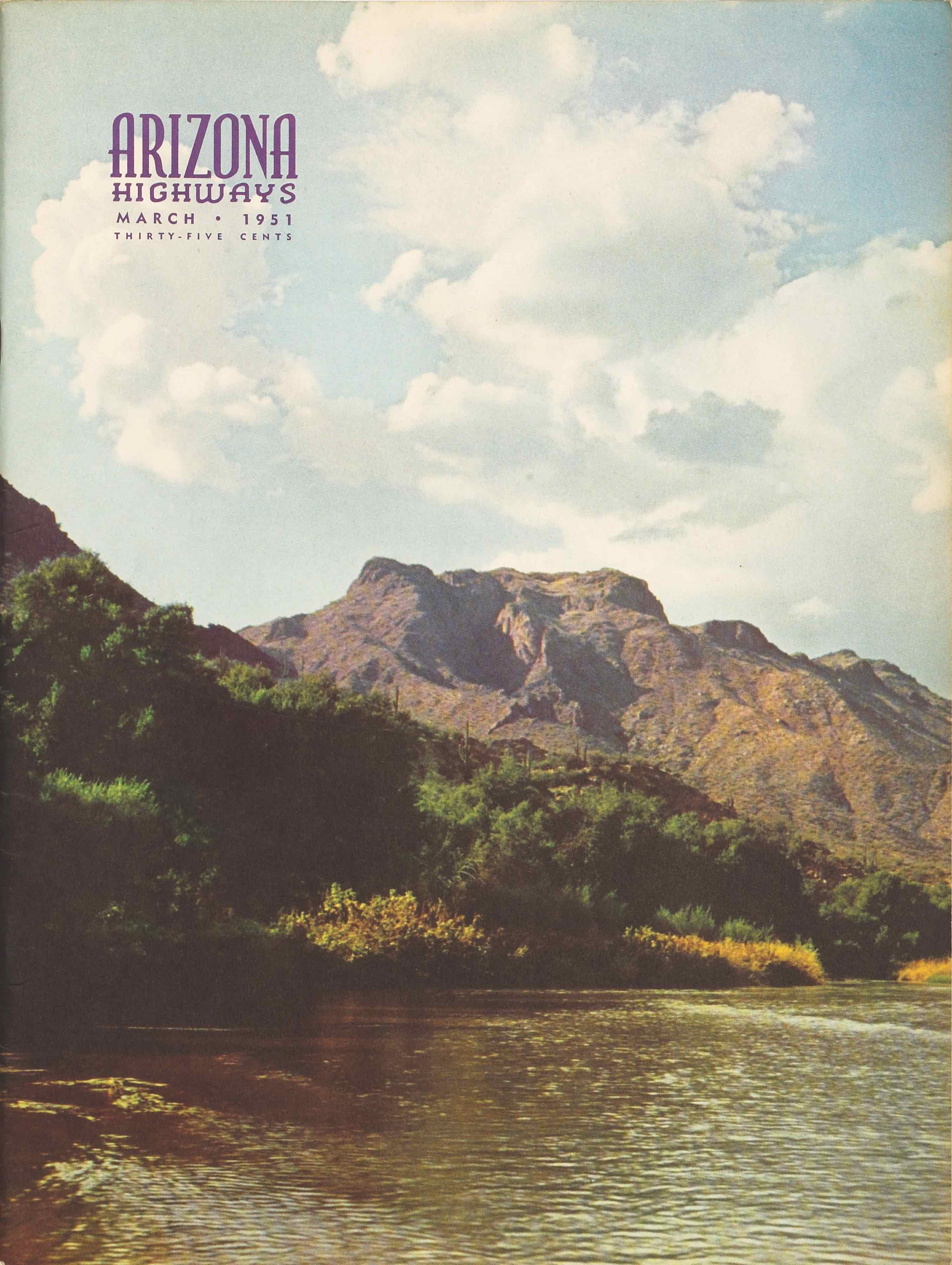 Arizona Highways March 1951 cover