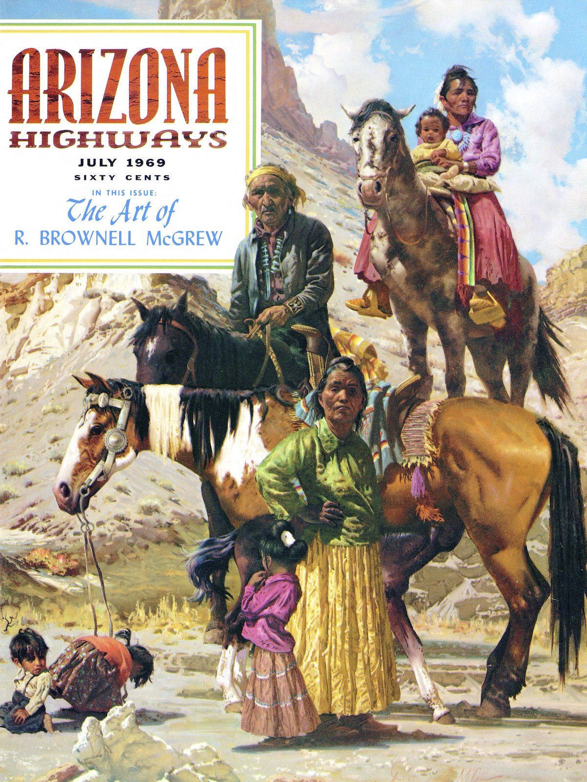 July 1969 cover of Arizona Highways