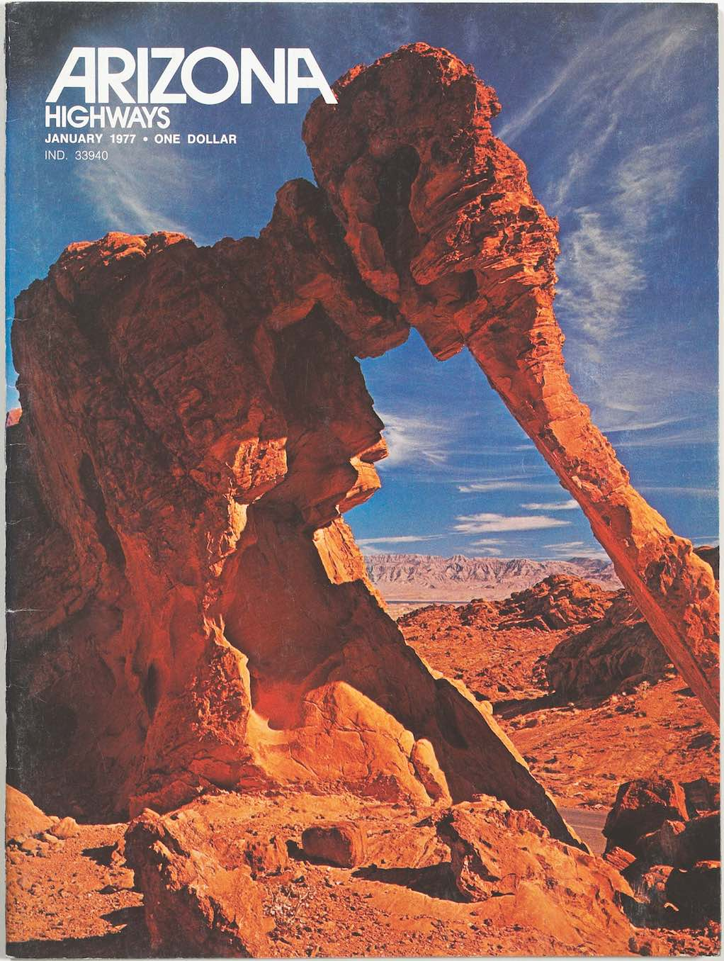 Cover of the January 1977 issue of Arizona Highways