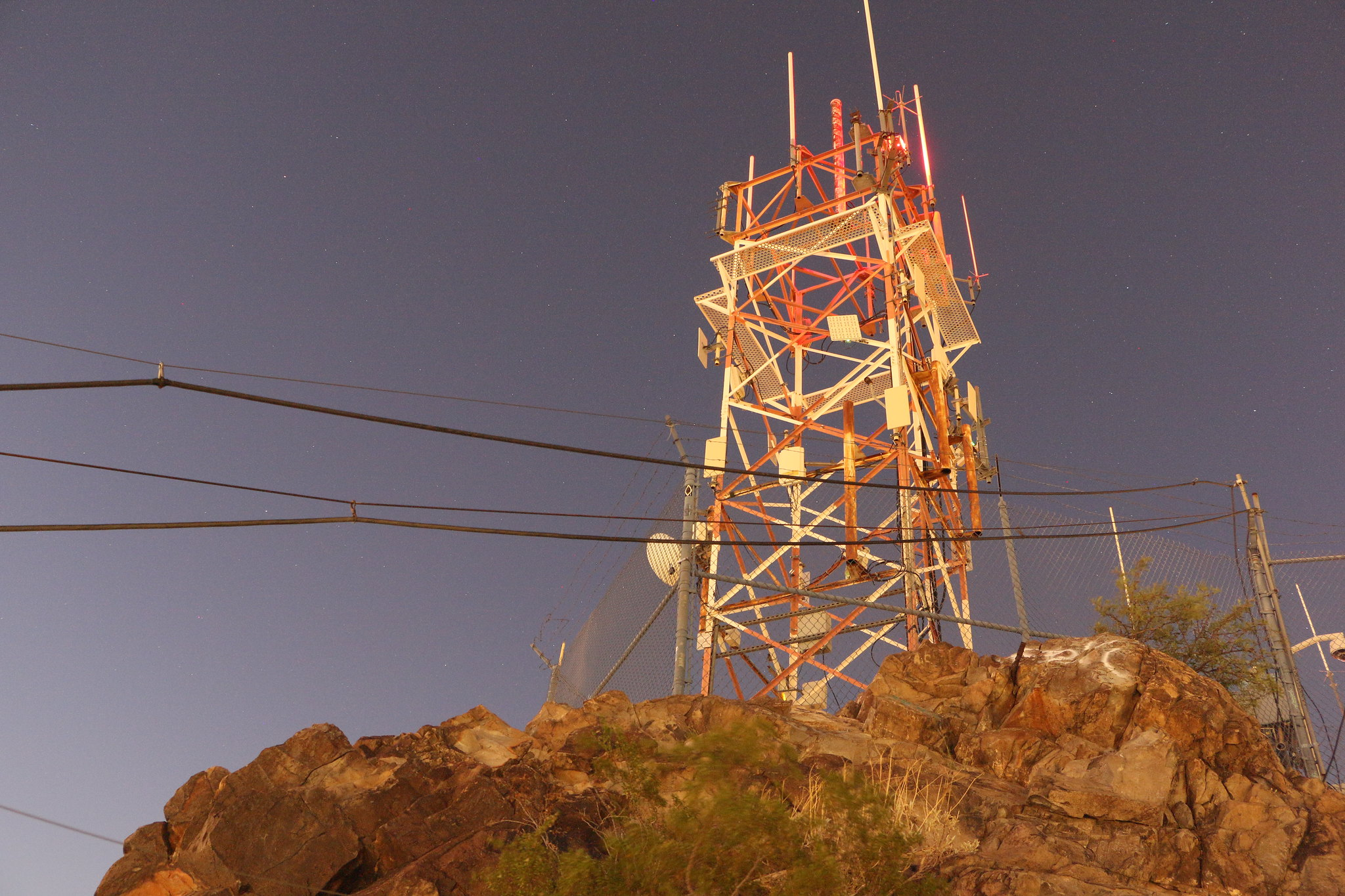 Radio tower on 'A' Mountain in Tempe in 2015