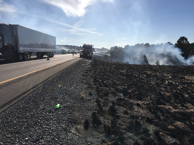 Rock Fire along an Arizona highway