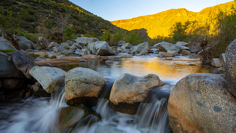 The Agua Fria River tumbles over rocks along the Badger Springs Trail. | Joel Hazelton