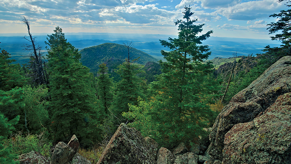The end of the Bill Williams Trail offers an expansive view atop Bill Williams Mountain. | Shane McDermott