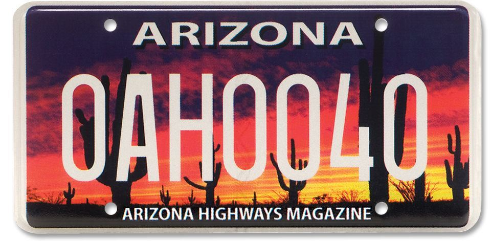 Order an Arizona Highways License Plate