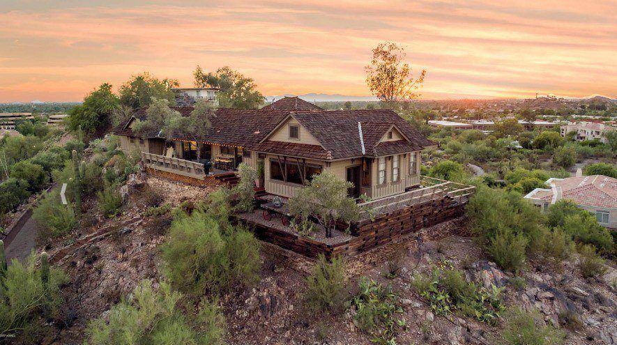 On The Market Once A Train Depot Now A Hilltop Home - Guirey-residence-arizona-architecture-classic