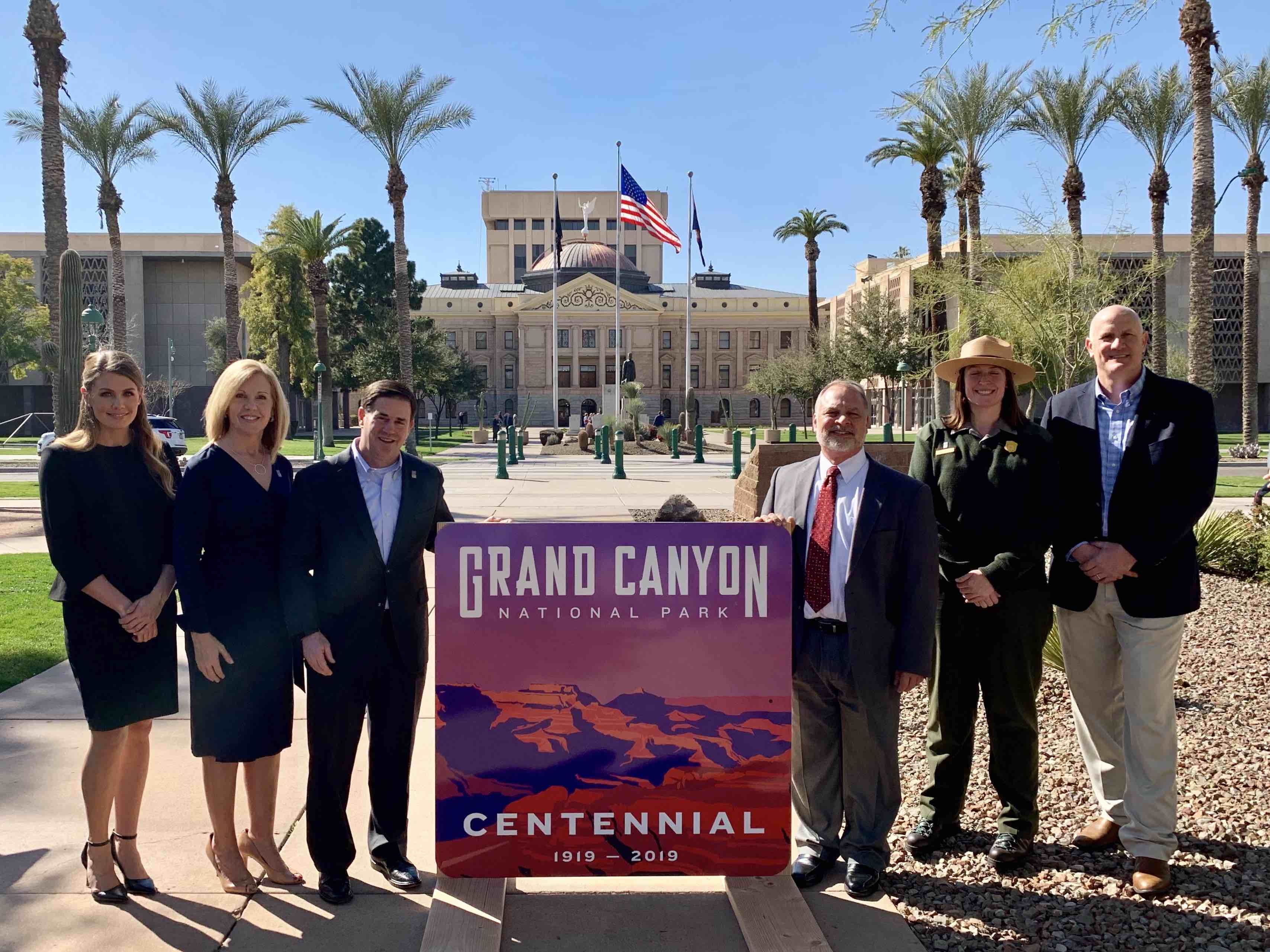 Grand Canyon centennial highway sign