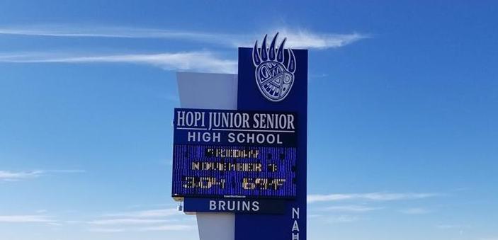 Hopi High School marquee